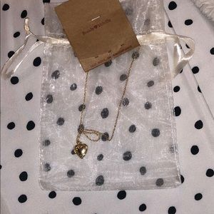 Brandy Melville Gold Heart Locket Necklace
